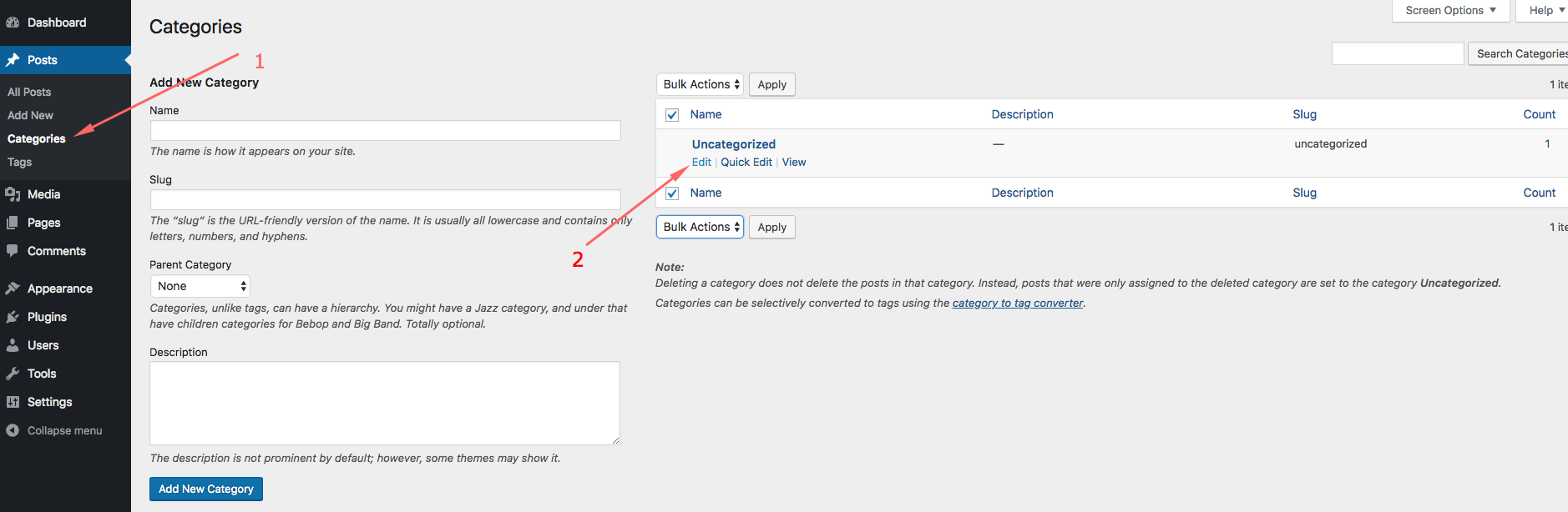 changing-wordpress-default-category
