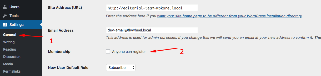 wordpress-registration-off