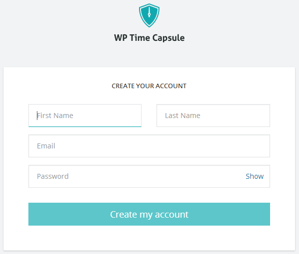 wp-time-capsule-account-information