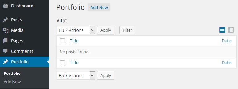 Creating a Custom Post Type