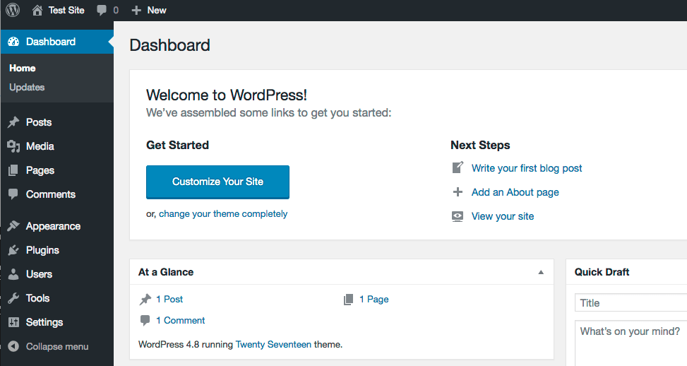 Reset a WordPress Site