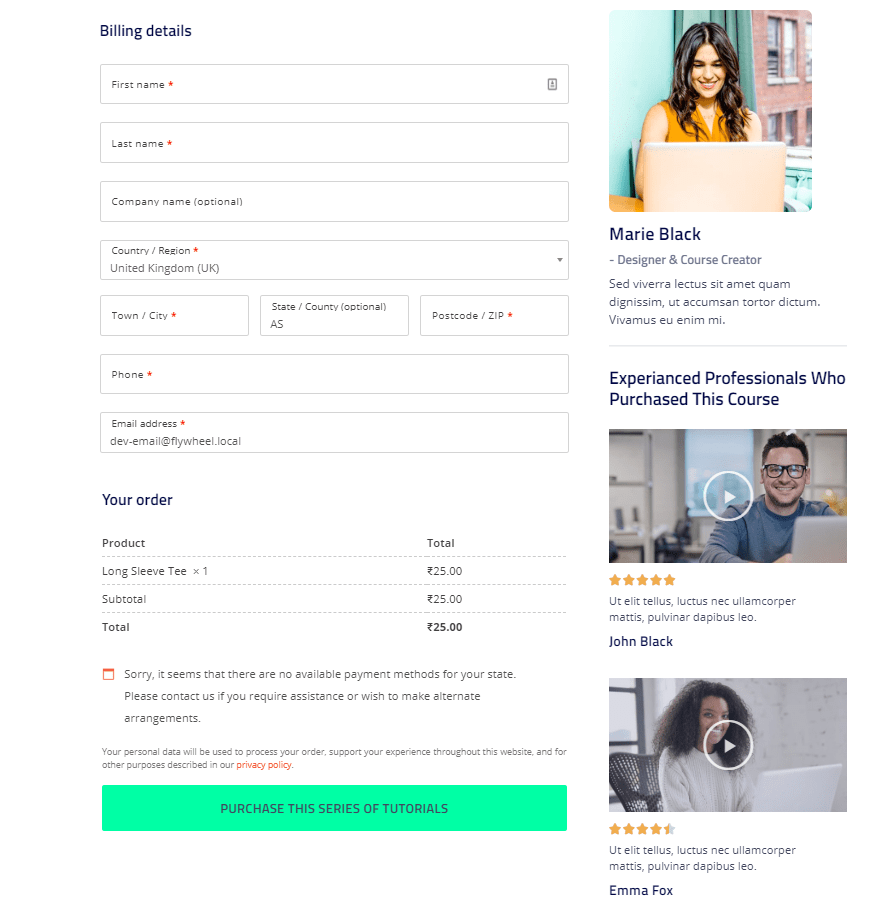 Customize the WooCommerce Checkout Page