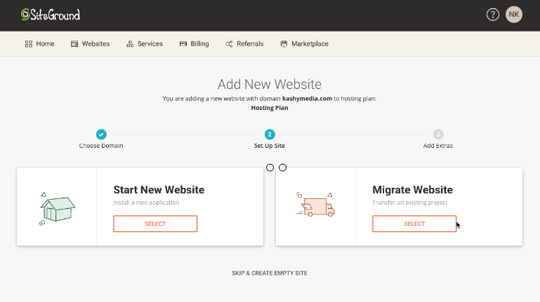 install wordpress on siteground