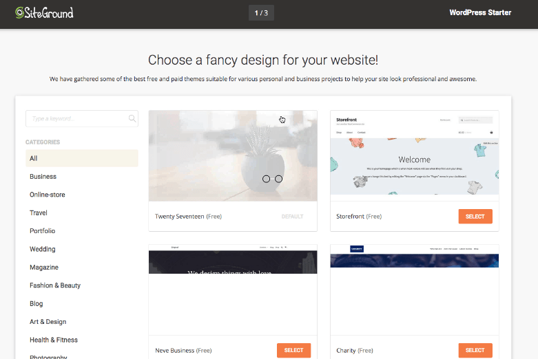 create a website for small business